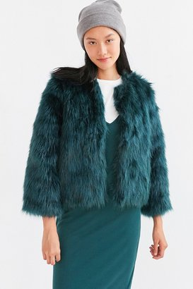 Kimchi Blue Zola Faux Fur Cropped Bomber Jacket $139 thestylecure.com