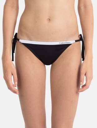 Calvin Klein logo tape string side tie bikini
