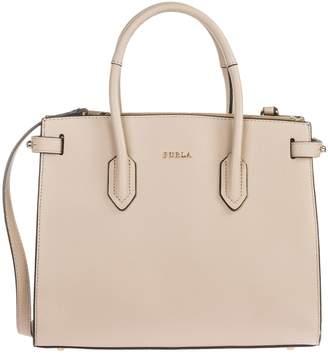 Furla Leather Handbag Shopping Bag Purse Pin