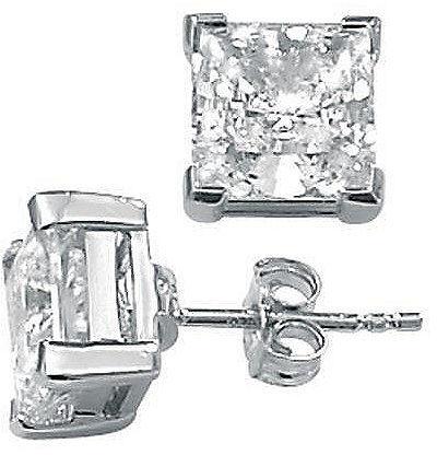 CZ Platinum/SS Earrings