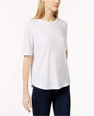 Eileen Fisher System Organic Cotton Crew-Neck T-Shirt, Regular & Petite