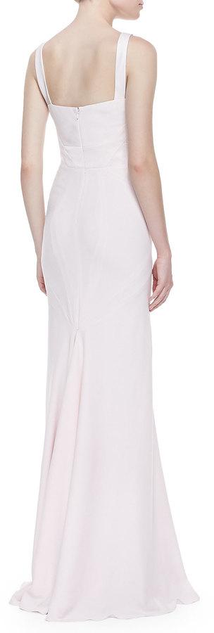 Zac Posen V-Neck Fishtail Gown