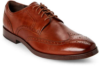 Cole Haan British Tan Jefferson Grand Wingtip Derby Shoes