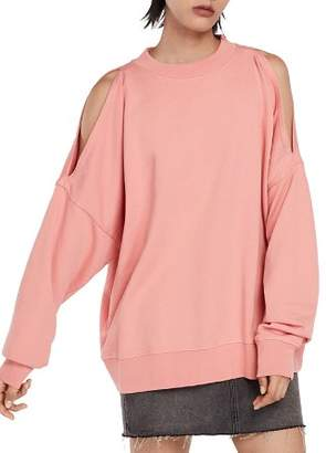 AllSaints Unai Oversized Cold-Shoulder Sweatshirt