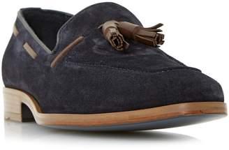 Dune BLACK MENS RIVERS - Double Tassel Leather Loafer