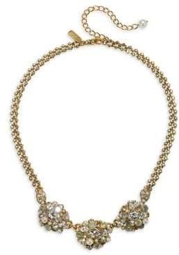 Badgley Mischka 10K Gold, Crystal & 7-7.5mm Pearl Statement Necklace