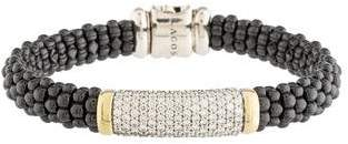 Lagos Black Caviar Diamond Beaded Bracelet