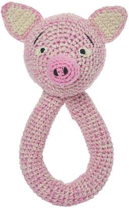 Anne Claire Crochet Bram Pig Ring Rattle