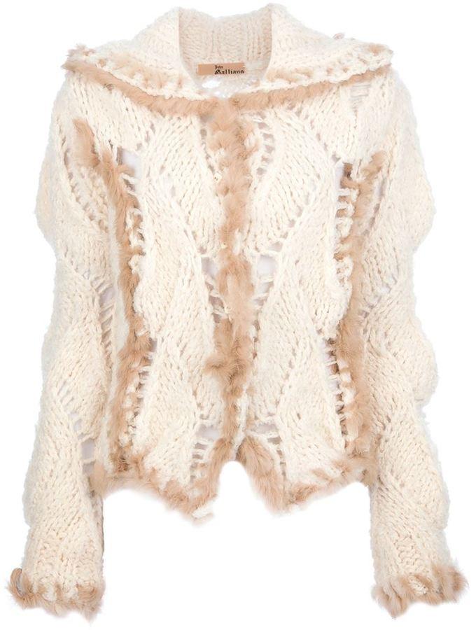 John Galliano Vintage knitted fur jacket