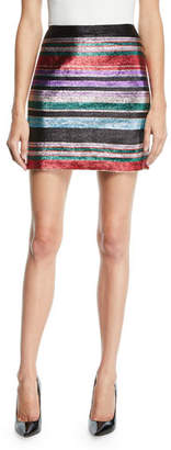 Trina Turk Rico Metallic Stripe Mini Skirt