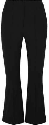 Alexander Wang Cropped Intarsia Cotton-blend Twill Flared Pants