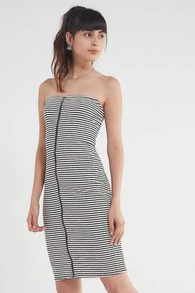Urban Outfitters Striped Zipper Tube Dress