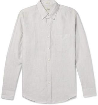 J.Crew Slim-fit Button-down Collar Puppytooth Linen Shirt