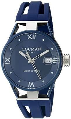 Locman Italy Women's 0521V06-BLBL00SB Montecristo Lady Analog Display Quartz Blue Watch