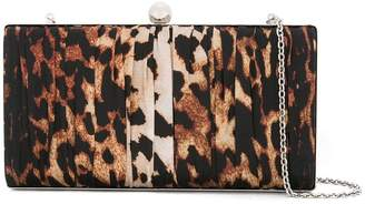 We11done leopard print chain clutch bag