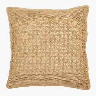 Sil'outte Sil'ouette Crochet Raffia Pillow Natural