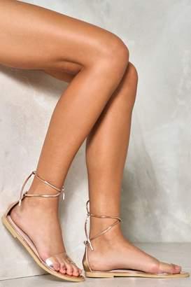 Nasty Gal Nothing to Hide Wrap Sandal