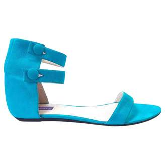 Emilio Pucci Turquoise Leather Sandals