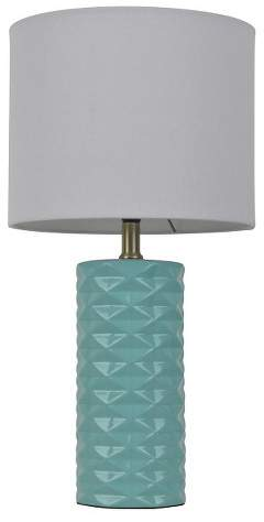 Room Essentials Faceted Ceramic Accent Table Lamp (Includes CFL bulb)