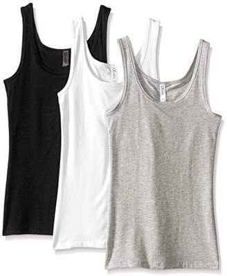 Clementine Apparel 3 Pack Women's Sleeveless Spandex Jersey Premium Tank Tops (3533)