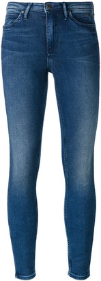 Calvin Klein Jeans super skinny cropped jeans $133.27 thestylecure.com