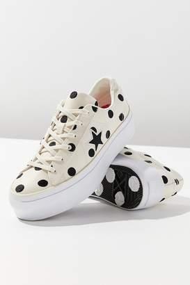 Converse One Star Polka Dot Platform Sneaker