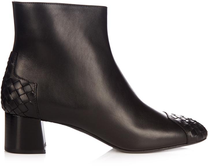 Bottega VenetaBOTTEGA VENETA Intrecciato leather ankle boots