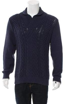 Brunello Cucinelli Rib Knit V-Neck Sweater