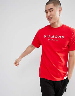 Diamond Supply Co. Stone Cut T-Shirt In Red