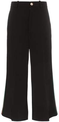 Gucci striped wide leg high-waisted trousers