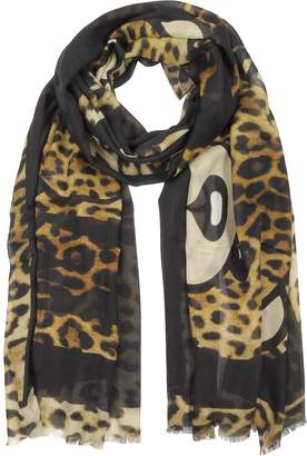 Moschino Animal Printed Teddy Bear Modal and Silk Stole