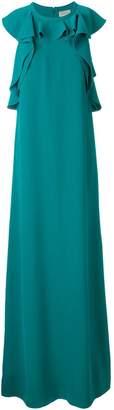 Lanvin ruffled sleeveless gown