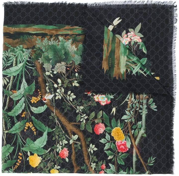 Gucci Tian print scarf