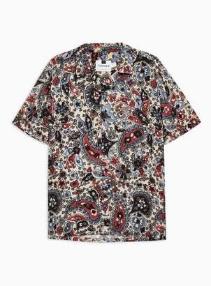 Topman Mens Stone Floral Design Revere Shirt