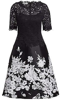Teri Jon by Rickie Freeman Women's Floral Midi Dress
