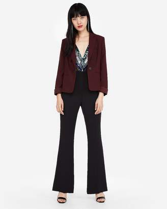 Express Cropped Double Breasted Boyfriend Blazer