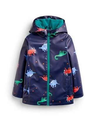 Joules Skipper Waterproof Dino-Print Coat, Size 2-6