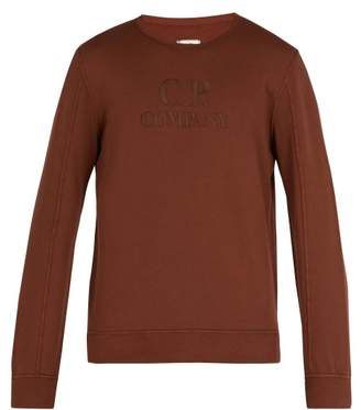 C.P. Company Logo Embroidered Crew Neck Sweatshirt - Mens - Brown