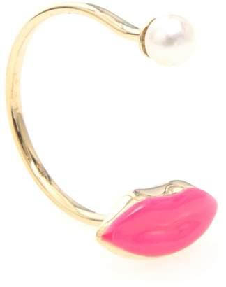 Delfina Delettrez Lips Ring 9kt Gold