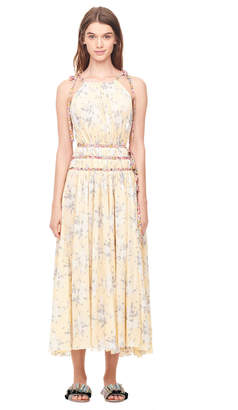 Rebecca Taylor Lemon Rose Pleated Dress