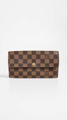 Louis Vuitton What Goes Around Comes Around Damier Ebene Sarah Wallet