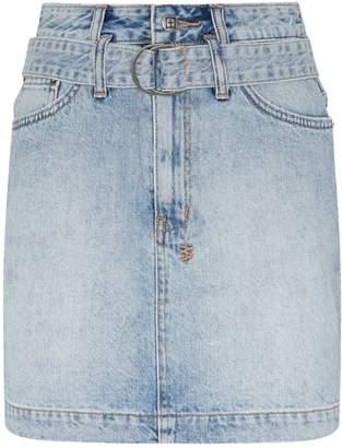 Ksubi Belted Denim Mini Skirt