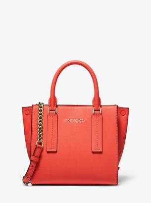 MICHAEL Michael Kors Alessa Medium Pebbled Leather Satchel