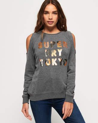 Superdry Alice Cold Shoulder Crew Sweatshirt