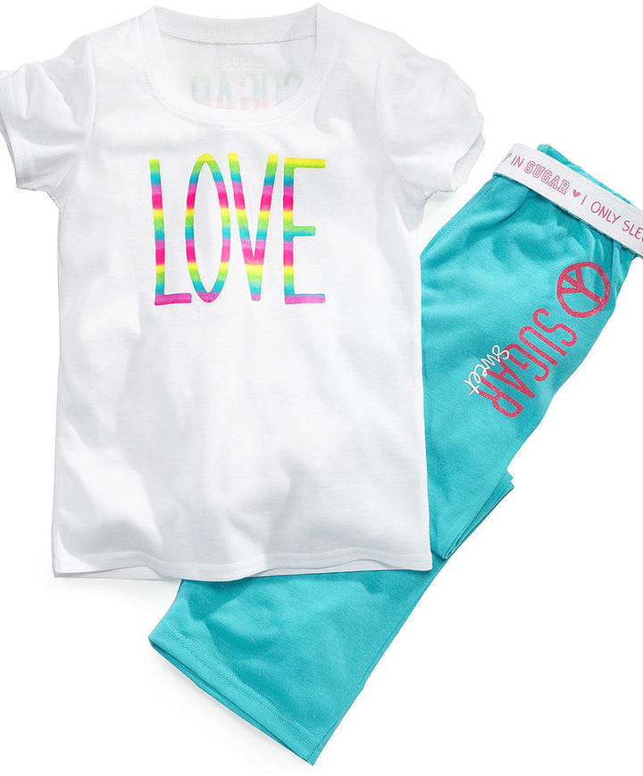 Sugar Sweet Couture Kids Pajamas, Little Girls and Girls 2-Piece T-Shirt and Pants Set