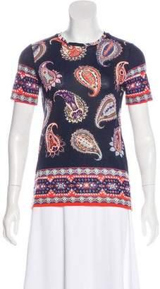 Tory Burch Short Sleeve Paisley Print T-Shirt w/ Tags