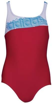 adidas Girls Springbreak Colourblock Swimsuit Bold Pink/White/Shock Pink