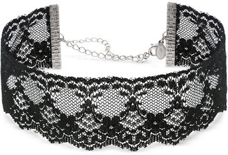 2028 Silver-Tone Black Lace Choker Necklace, a Macy's Exclusive Style $32 thestylecure.com