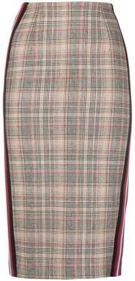 Pinko plaid pencil skirt
