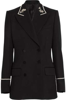 Burberry Bullion Stretch Wool Double-breasted Jacket